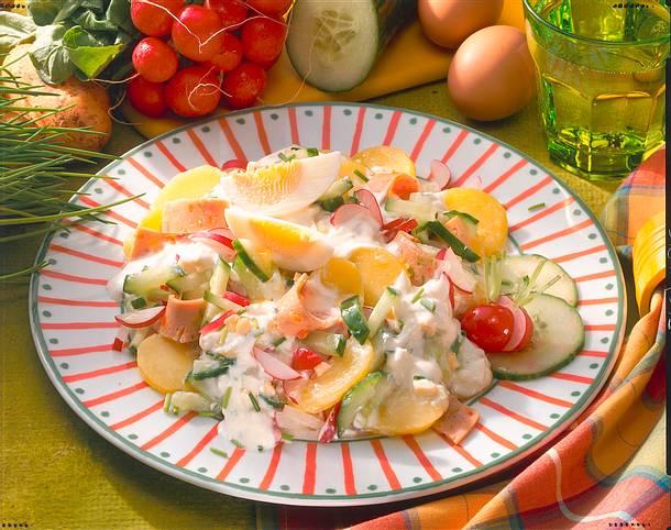 Kartoffelsalat mit Ei Rezept