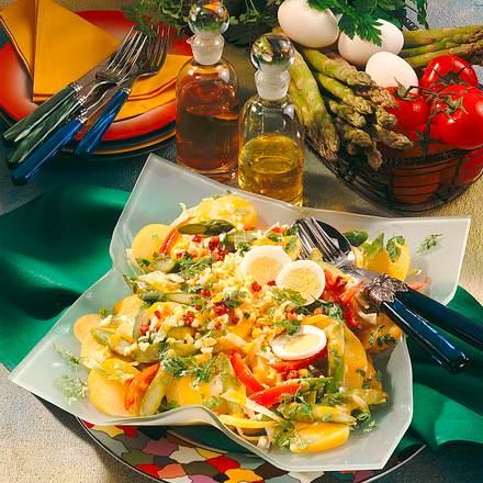 Kartoffelsalat mit Ei-Vinaigrette Rezept