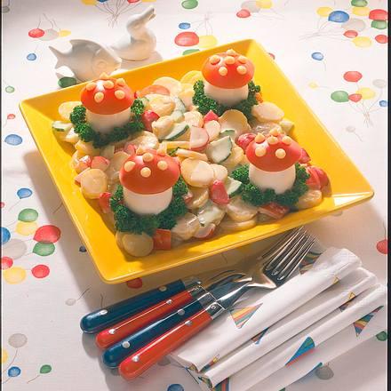 """Kartoffelsalat mit """"Eier-Pilzen"""" Rezept"""