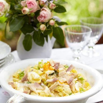 Kartoffelsalat mit geräucherter Forelle Rezept