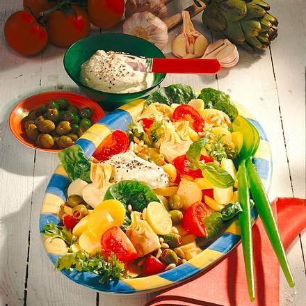 Kartoffelsalat mit grünen Oliven Rezept