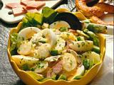 Kartoffelsalat mit Hähnchen und gekochtem Schinken Rezept