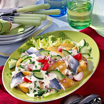 Kartoffelsalat mit Hering Rezept