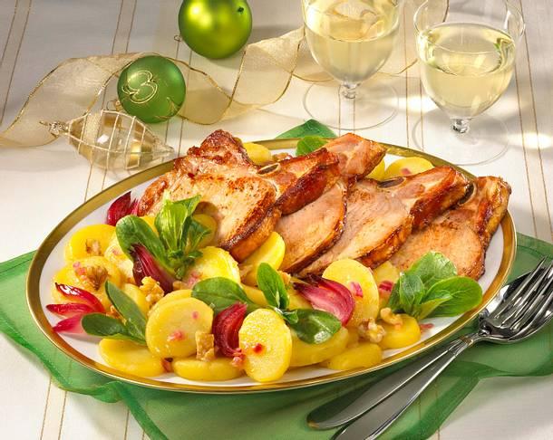 Kartoffelsalat mit Kasselerkotelett Rezept