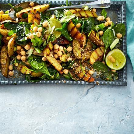 Kartoffelsalat mit Kichererbsen Rezept