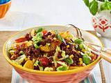Kartoffelsalat mit Kidneybohnen und Hack Rezept