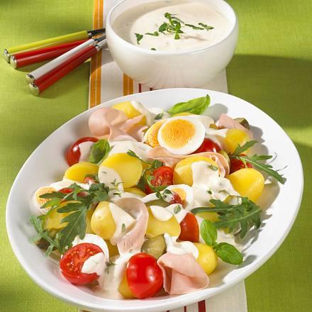 Kartoffelsalat mit Kräutercreme Rezept