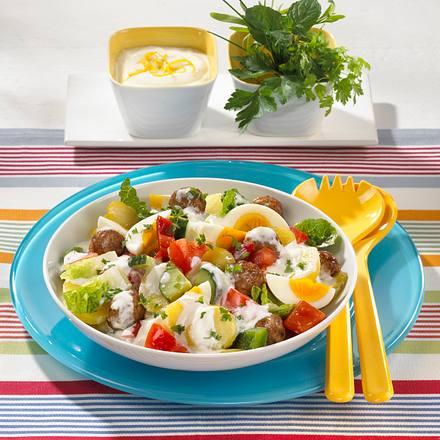 Kartoffelsalat mit Mettbällchen Rezept