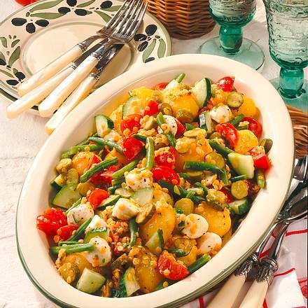 Kartoffelsalat mit Mozzarella Rezept