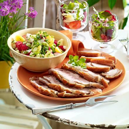 Kartoffelsalat mit Radieschen und Käse Rezept