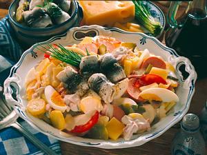 Kartoffelsalat mit Rollmöpsen Rezept