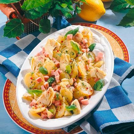 Kartoffelsalat mit Schinken und Artischocken Rezept