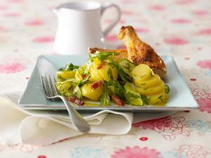Kartoffelsalat mit Speck und Dill-Vinaigrette Rezept