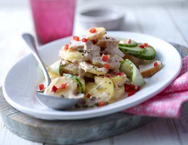Kartoffelsalat mit Thunfischsoße Rezept