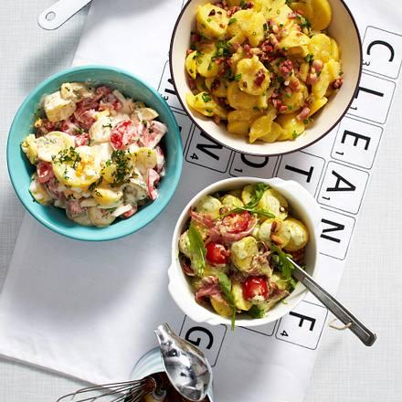 Kartoffelsalat mit Tomaten und Eiern Rezept