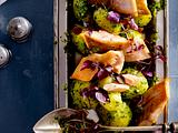 Kartoffelsalat mit Winter-Pesto und Saiblingsfilet Rezept