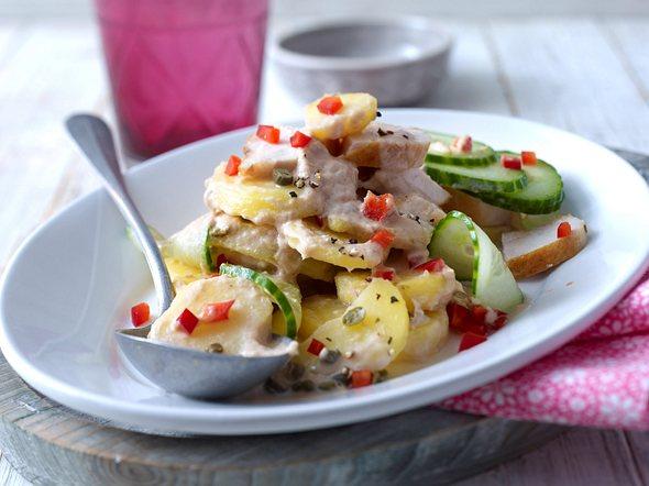 Kartoffelsalat Pollo tonnato Rezept