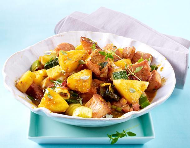 Kasseler-Ananas-Curry Rezept