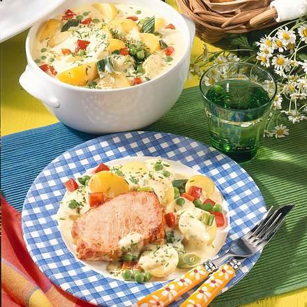 Kasseler auf Béchamel-Kartoffeln Rezept