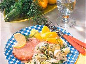 Kasseler auf Dill-Zucchini Rezept