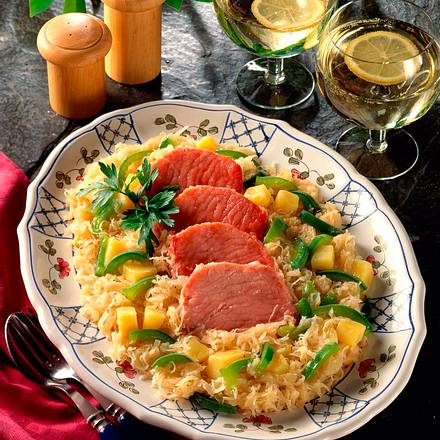 Kasseler auf Sauerkraut Rezept