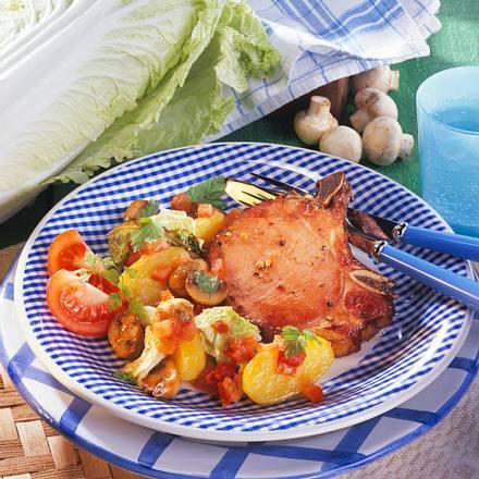 Kasseler auf Schmorgemüse (Diabetiker) Rezept