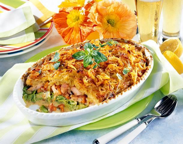 Kasseler-Gratin mit Kartoffel-Kruste Rezept