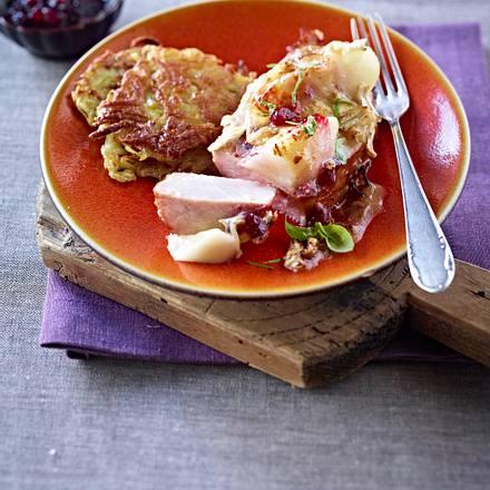 Kasseler mit Birne und Camembert Rezept