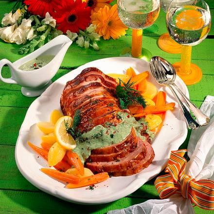 Kasseler mit grüner Soße Rezept