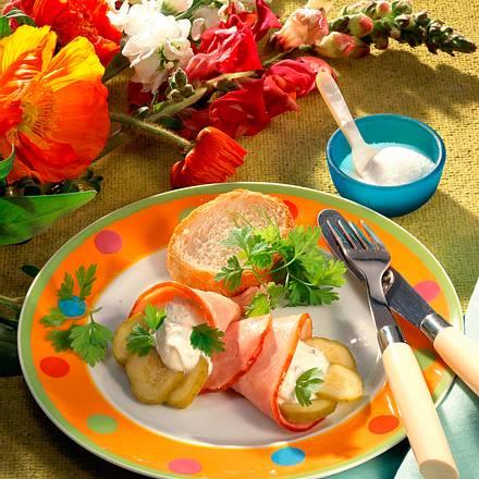 Kasseler-Tütchen mit Kräuterquark Rezept