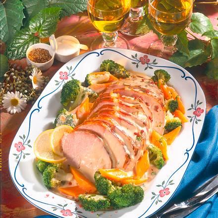 Kasseler zu Möhren und Broccoli Rezept