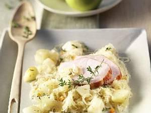Kasselerbraten mit Birnen-Sauerkraut Rezept