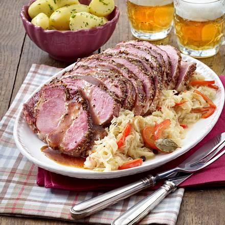 Kasselerbraten mit Sauerkraut Rezept