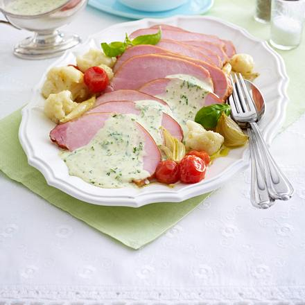 Kasselerbraten mit warmer Kräutersoße Rezept
