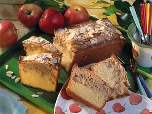 Kastenkuchen aus Amaretto-Rührteig Rezept