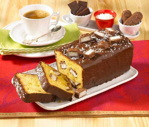 Kastenkuchen mit Bountys Rezept