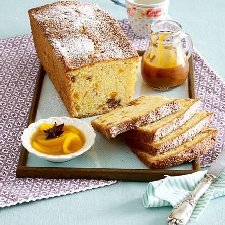 Kastenkuchen mit Trockenobst und 2 Toppings Rezept