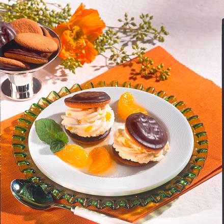 Keks-Burger mit Mandarinen-Creme Rezept