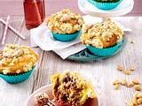 Keksteig-Muffins mit Erdnussstreuseln Rezept