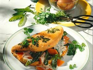 Kerbel-Omelett mit Gemüsefüllung Rezept