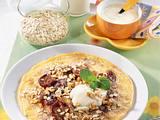 Kernige Joghurt-Pflaumen-Pfannkuchen Rezept