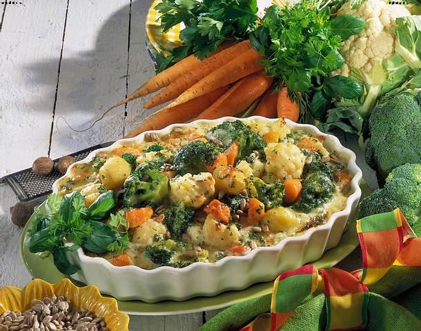 Kerniger Blumenkohl-Broccoli-Auflauf Rezept