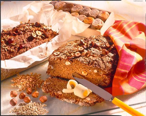 Kerniges Dinkel-Nuss-Brot Rezept