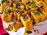 Khaman Dhokla Gedämpfter Grießkuchen Rezept