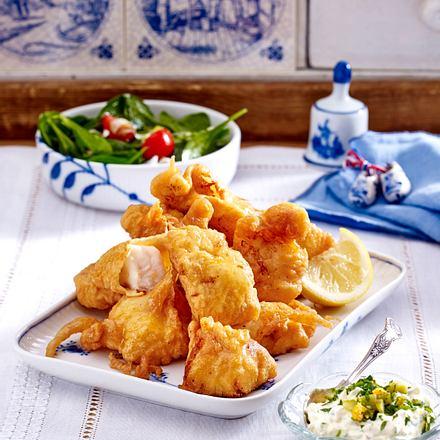 Kibbeling mit Remoulade und Salat Rezept