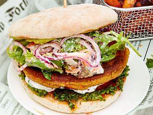 Kichererbsen-Burger mit Avocado Rezept