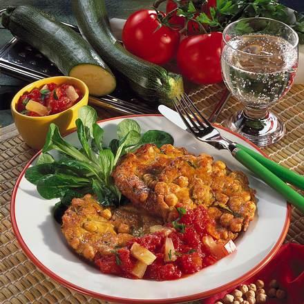kichererbsen puffer mit tomaten dip rezept chefkoch rezepte auf kochen backen und. Black Bedroom Furniture Sets. Home Design Ideas