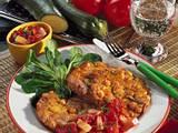 Kichererbsen-Puffer mit Tomaten-Dip Rezept