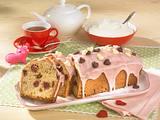 Kirsch-Amarettini-Kastenkuchen mit rosa Guss Rezept