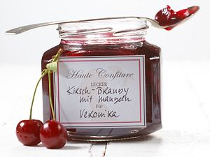 Kirsch-Brandy-Mandel-Konfitüre Rezept